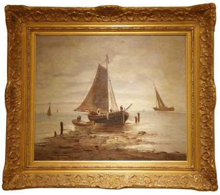 André Foneche, Bateaux de pèche (fishing boat), late 19th century