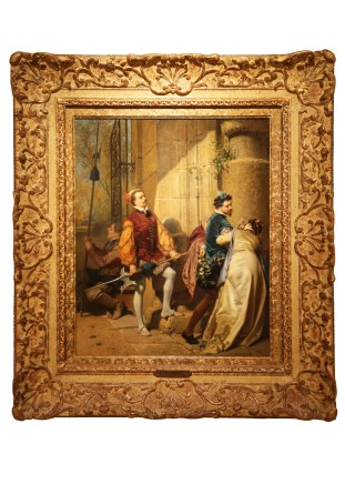 Henri-Charles Antoine Baron, Couple entering a Castle