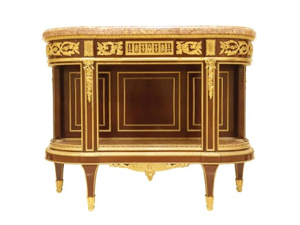 Henry Dasson, Console Dessert Table, Louis XVI Style, Paris, 1880