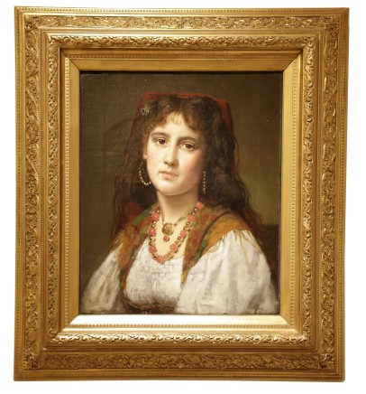 Pieter Van Havermaet, Portrait of an Italian Girl, 1870