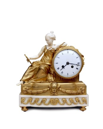 After Antoine Foullet, Prudence / Cleopatra Mantel Clock, middle of 19th century