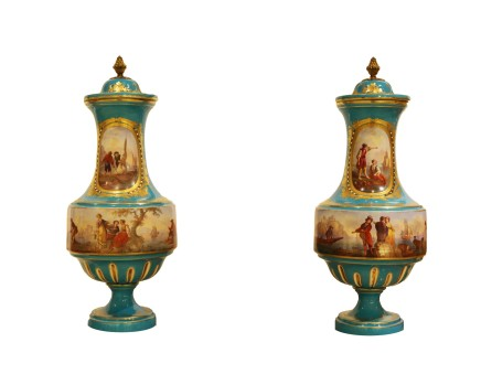 Pair of Porcelain Vases, Second half of the 19th century