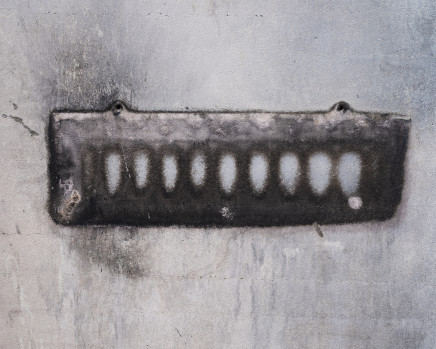 Gideon Mendel, Imprint of a coat rack on a burnt wall. Conjola Park, New South Wales, 2020
