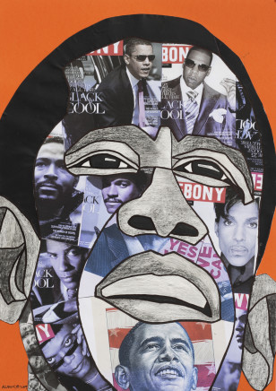 African Portraits - Collages on paper