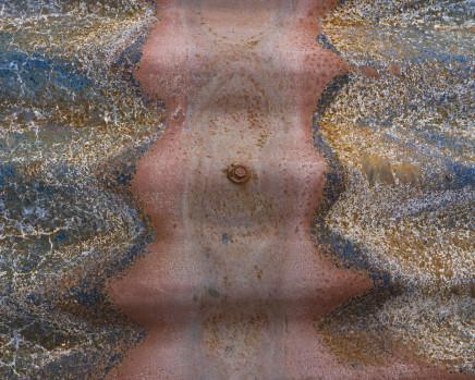 Gideon Mendel, Burnt corrugated iron roofing. Sarsfield, Victoria, 2020