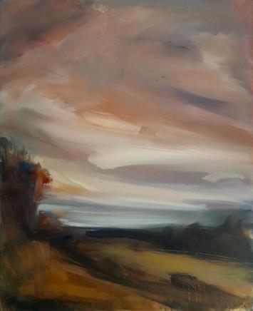 Edwina Broadbent, Autumn across Mounts Bay , 2020