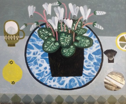 Vanessa Bowman, White Cyclamen and Lemon