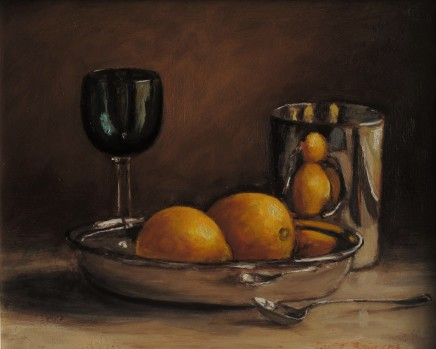 Ruth Bowyer, Lemons and green glass