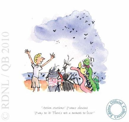 Quentin Blake/Roald Dahl, LOW STOCK - 'Action Stations!' James shouted