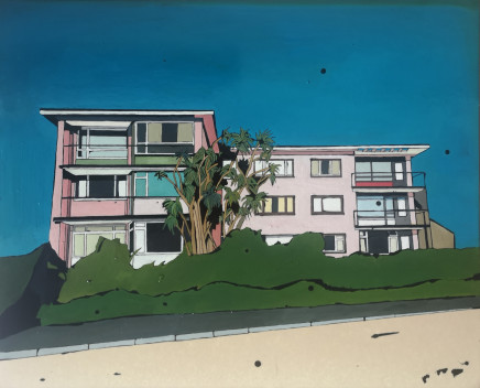 Tracey Oldham, Pink Apartments and Palm Trees , 2020