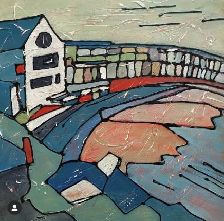 Angela Annesley, Evening Tide at Porthgwidden