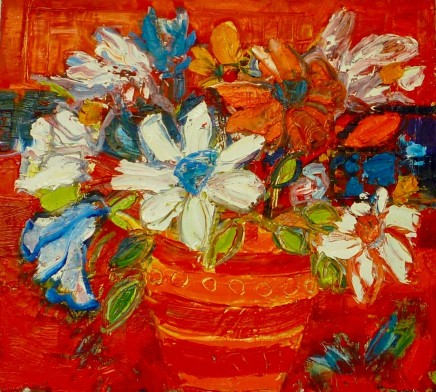 Penny Rees, Red Striped Vase