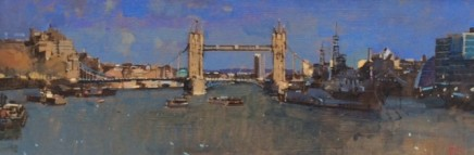 David Sawyer RBA, Tower Bridge & HMS Belfast