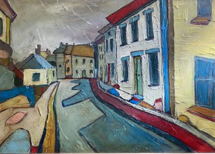 Angela Annesley, Back Streets, Mousehole,