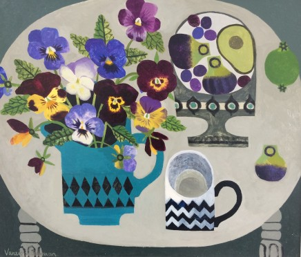 Vanessa Bowman, Pansies and Zigzag Cup