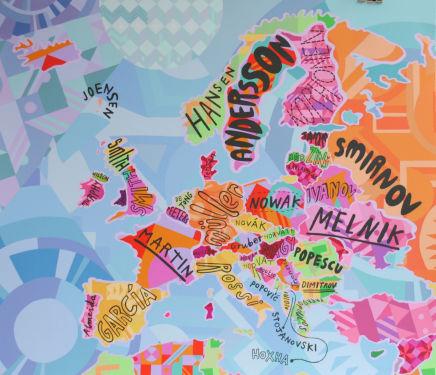 Jess Wilson, Popular surnames in Europe
