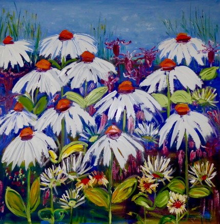 Penny Rees, Echinacea by the Pond