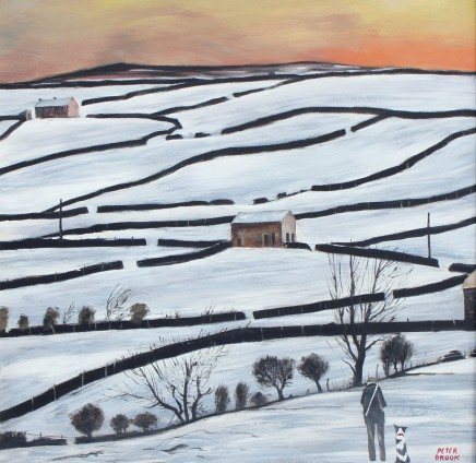 Peter Brook RBA, Swaledale sunset