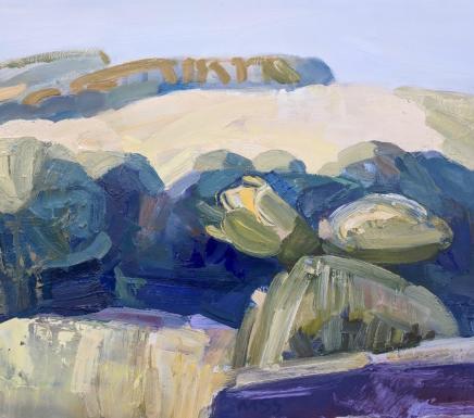 Minnie Shaw Stewart, Sculptural Trees and Summer Downs
