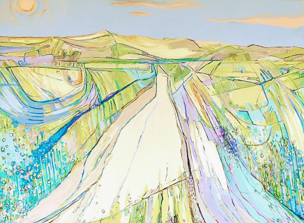 Lesley Munro, Distant Dunes 90 x 120cm Acrylic on Canvas £3950 by Lesley Munro)