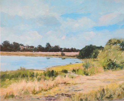 Colin Cook, Summer at Rushmere Pond, Wimbledon, 2020