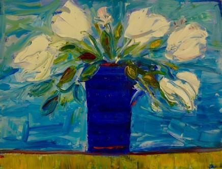 Penny Rees, Blue/mauve vase