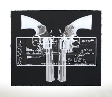 Elvis Gun cheque - silver