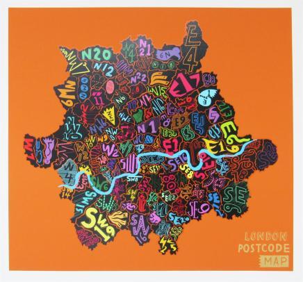 Jess Wilson, London Postcode (Orange), 2013