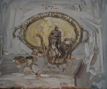Richard Colson, Danish Silver Jug and Tray