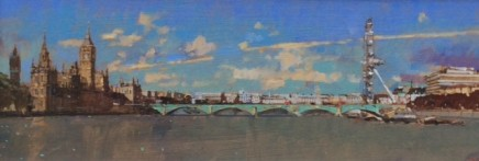 David Sawyer RBA, Westminster . View from Lambeth Bridge.