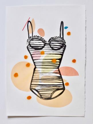 Annie Sandano, Summer Bathers (Tangerine)