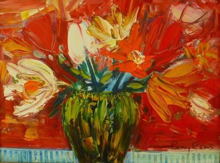 Penny Rees, Stripey Green Vase