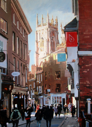 Colin Cook, York Minster from Low Petergate