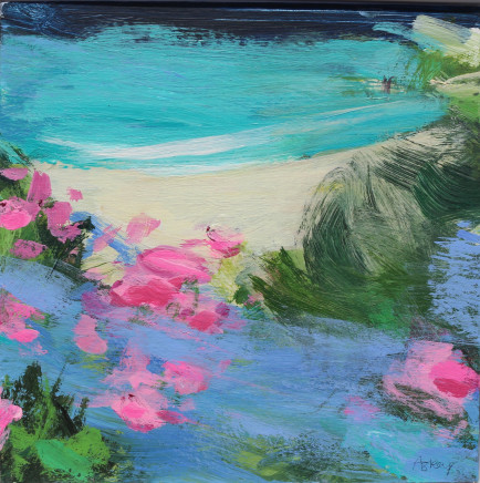 Jane Askey, Turquoise Sea Spring Wildflowers