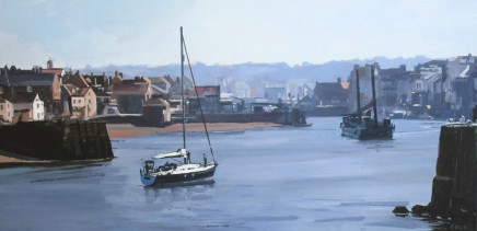 Colin Cook, Queuing for the swing bridge - Whitby