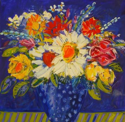 Penny Rees, Blue Spotty Vase, 2020