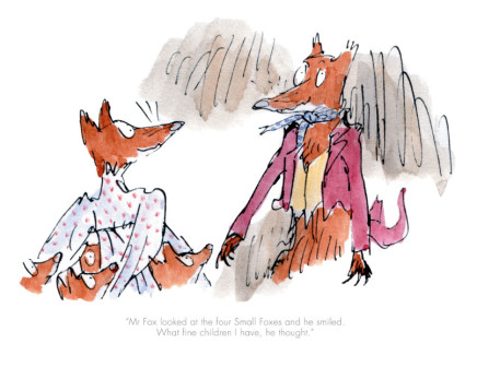 Quentin Blake/Roald Dahl, Mr Fox Looked at the Four Small Foxes