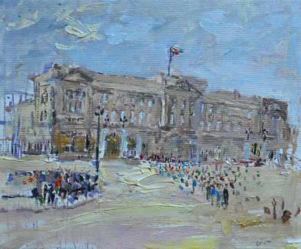 Richard Colson, Buckingham Palace with Crowds