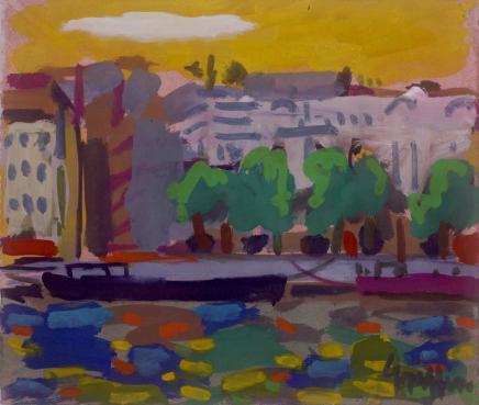Peter Griffen, Barge Noir Sur La Seine, 1999-2021
