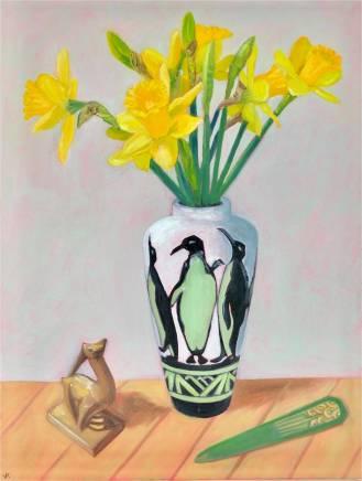 John Klein, Art Deco Daffodils, 2020