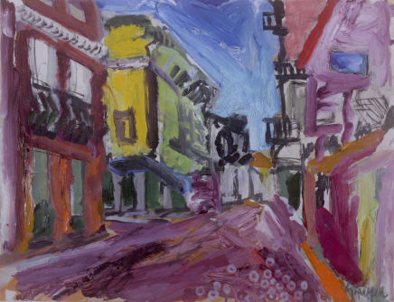 Peter Griffen, Olhao Street (burgundy), 2019-2021