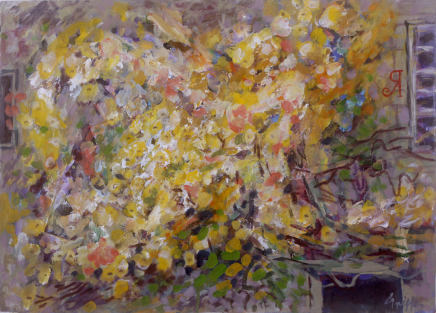 Peter Griffen, Rose Wall no.1 (yellow), 2012-2021