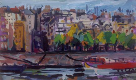 Peter Griffen, Barge Rouge sur la Seine, 2012-2021
