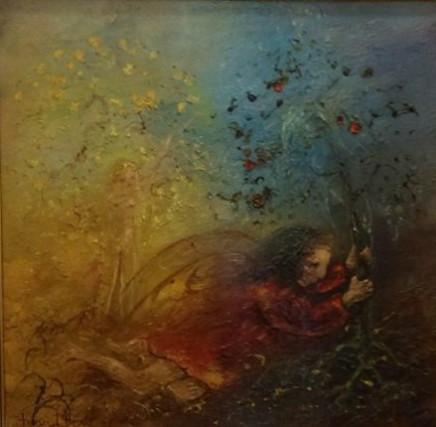 David Boyd, Angel Uprooting a Tree, 1971