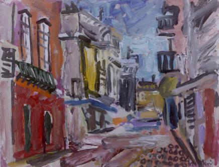 Peter Griffen, Olhao Street (purple), 2019-2021
