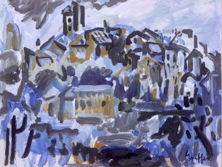 Peter Griffen, Cordes sur Ciel (blue), 2012-2021