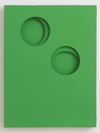 Paolo Scheggi, Intrasuperficie curva dal verde, 1964