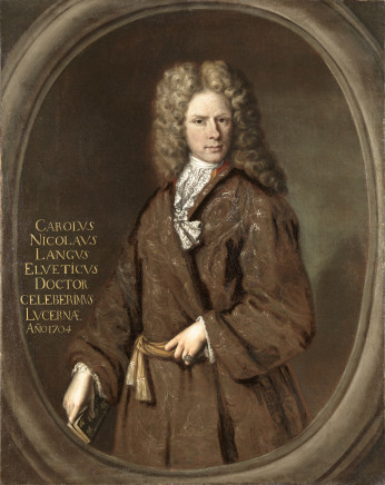 Painter from Southern Germany, Portrait of Karl Nicolaus Lange, 1704