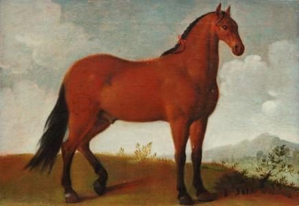 Circle of Charles Towne, Bay horse in a landscape