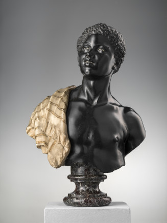 A moor marble bust, Probably Rome, 19th Century